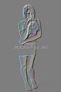 Implied Nude Girl Embossed 1346.620