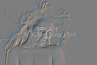 Implied Nude Girl Embossed 1346.605