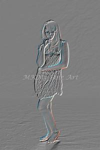 Implied Nude Girl Embossed 1346.612