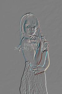 Implied Nude Girl Embossed 1346.613