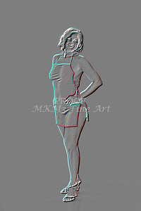 Implied Nude Girl Embossed 1334.514