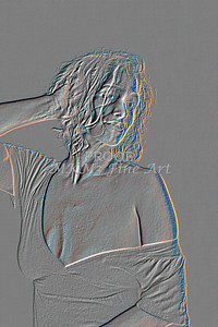 Implied Nude Girl Embossed 1334.537