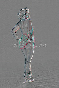 Implied Nude Girl Embossed 1334.519