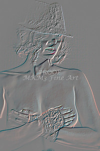 Implied Nude Girl Embossed 1334.505