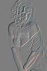 Implied Nude Girl Embossed 1334.539