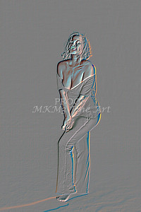 Implied Nude Girl Embossed 1334.513