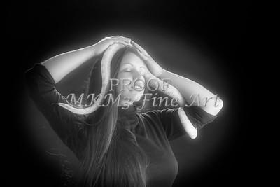 Amanda Spangler Model and Snake  024