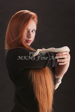 Amanda Spangler Model and Snake  012