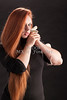 Amanda Spangler Model and Snake  002