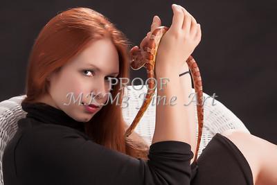 Amanda Spangler Model and Snake  007