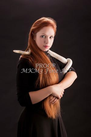 Amanda Spangler Model and Snake  006