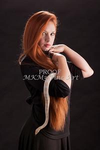 Amanda Spangler Model and Snake  001