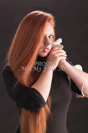 Amanda Spangler Model and Snake  011