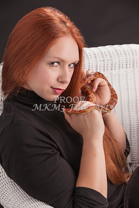 Amanda Spangler Model and Snake  010