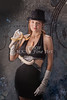 Snake Lady or Girl with Live Snake Photograph 5250.02