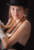 Snake Lady or Girl with Live Snake Photograph 5254.02