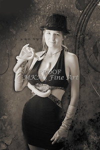 Snake Lady or Girl with Live Snake Photograph 5242.01