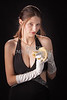 Snake Lady or Girl with Live Snake Photograph 5251.02