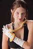 Snake Lady or Girl with Live Snake Photograph 5253.02