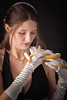 Snake Lady or Girl with Live Snake Photograph 5257.02