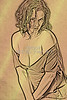 Implied Nude Girl Light Drawing 1334.339