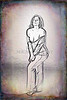 Implied Nude Girl Light Drawing 1334.316