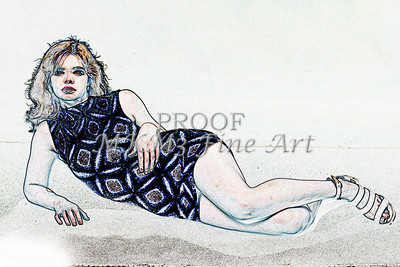 Sexy Girl Model  Watercolor1810.318