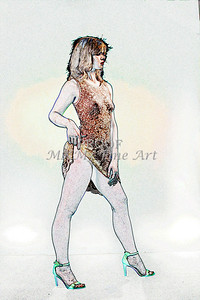 Sexy Girl Model  Watercolor1810.306