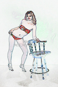 Sexy Girl Model  Watercolor1810.324