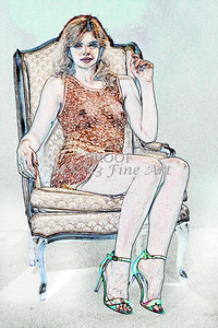 Sexy Girl Model  Watercolor1810.309