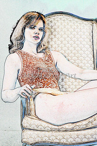 Sexy Girl Model  Watercolor1810.311