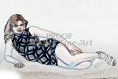 Sexy Girl Model  Watercolor1810.319