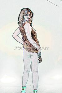 Sexy Girl Model  Watercolor1810.308