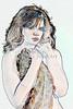 Sexy Girl Model  Watercolor1810.300