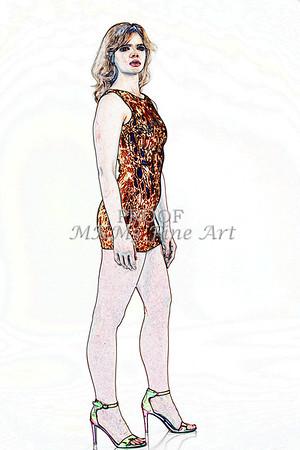 Sexy Girl Model  Watercolor1810.344