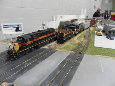 Alpha/Dale freemo modules - Seaboard Southern show, Horsham, Sep 2012