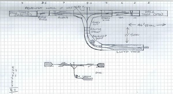 Plan for the HO scale freemo at Weston On Trent