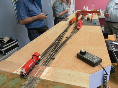 Keith Webb's pocket intermodal terminal - double track end