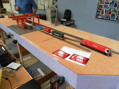 Keith Webb's pocket intermodal terminal - single track end