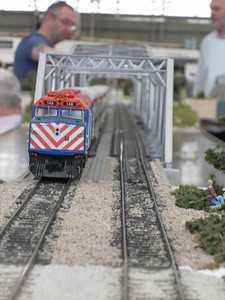 Metra on the river bridge at Crosskeys