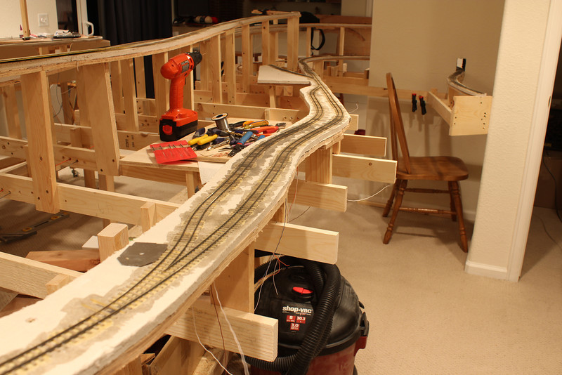 This is the Maysville siding.  The idea is if any doubling of the hill need to take place that the second section of the train will wait here.  As of March 3rd, this area is complete and I have been running over the area, with great success.