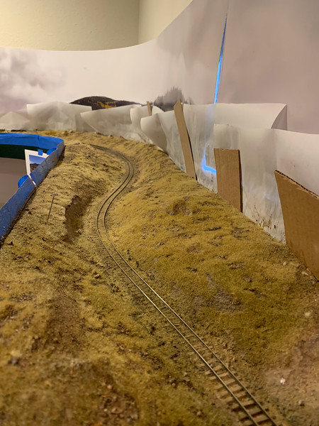 Rounding the bend - First Grass Layer down