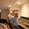 Mark and Bill look over the layout before the layout tour for the NCMRC.