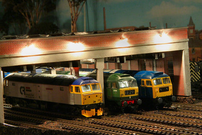 47035, D1500 & 47200 line up on Barton Shed.  10/01/12