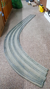 Track Relaying around Barton East, the old track came off in one large chunk  07/11/17