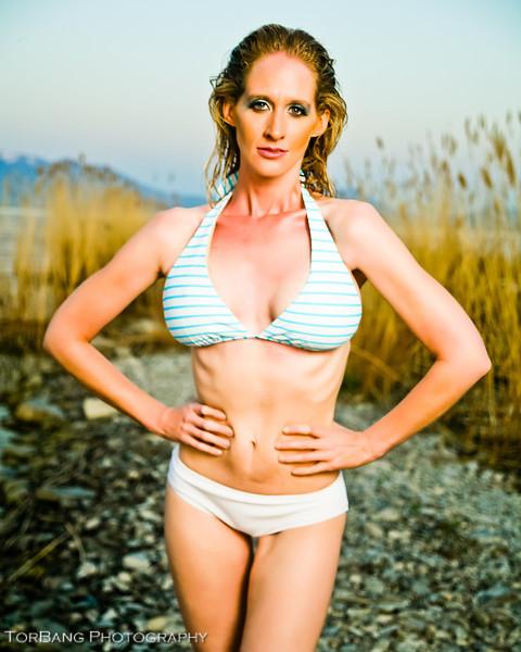 Connie at Utah Lake at the Saratoaga Springs Harbor. © 2012 Torsten Bangerter