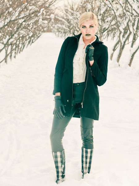 Winter Fashion with the trees, Model/MUA Hailey Spung, Torbang Photography, Dec 2012