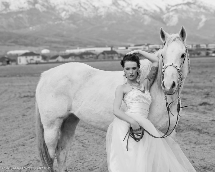 The Woman and The Horse Model- Gentry Everill MUA- Jillian Joy
