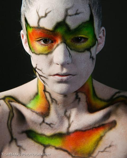 Model- Kristy Bennett Bodypainter- Richard Newman