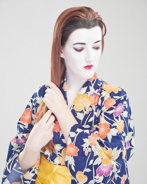 Memoirs of a Melissa Giesha Shoot, Model Mellisa G MUA Haley Davis